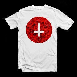rose cirlce cross tee